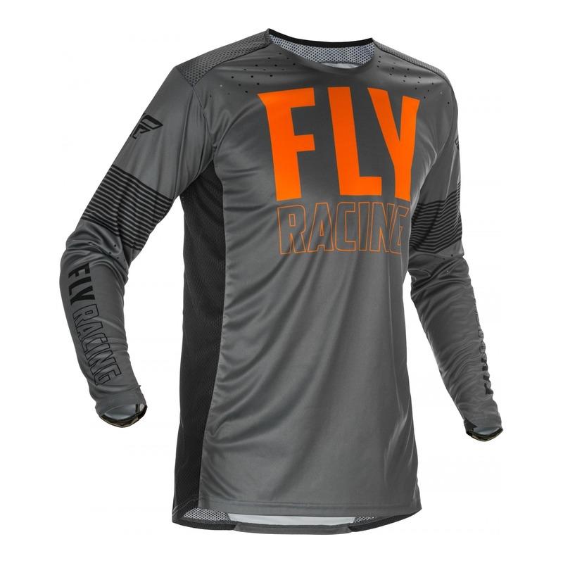 Maillot cross Fly Racing Lite gris/orange/noir