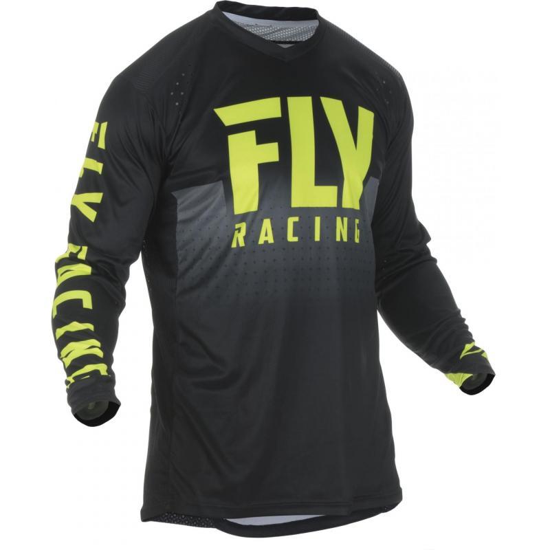 Maillot cross Fly Racing Lite Hydrogen jaune/noir