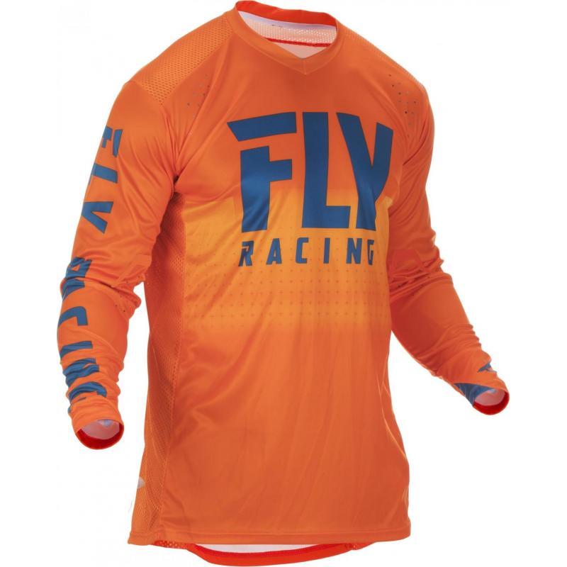 Maillot cross Fly Racing Lite Hydrogen orange/bleu