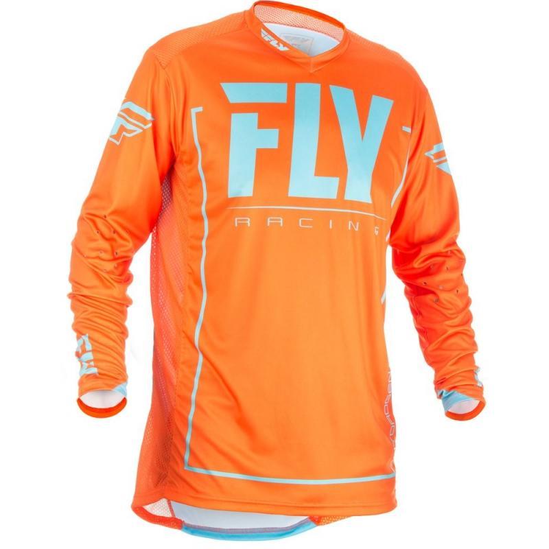 Maillot cross Fly Racing Lite Hydrogen orange et bleu