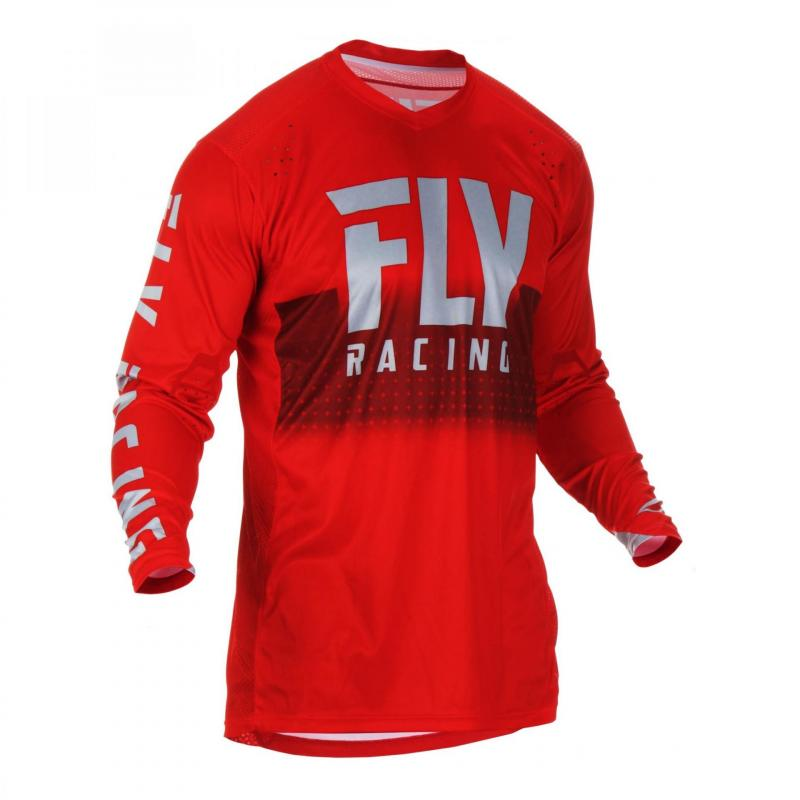 Maillot cross Fly Racing Lite Hydrogen rouge/gris