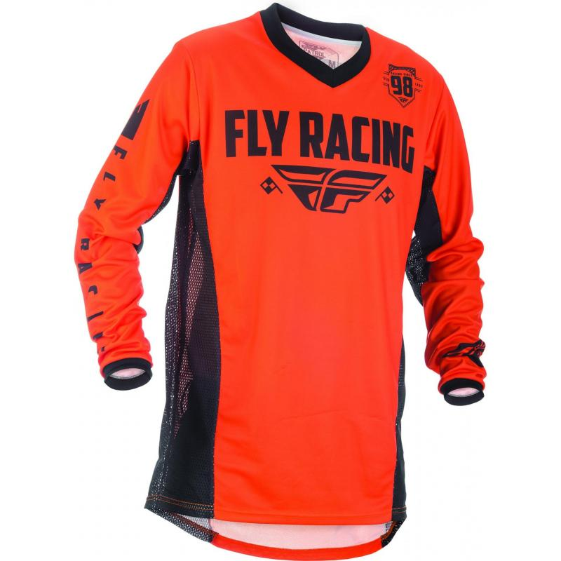 Maillot cross Fly Racing Patrol orange/noir