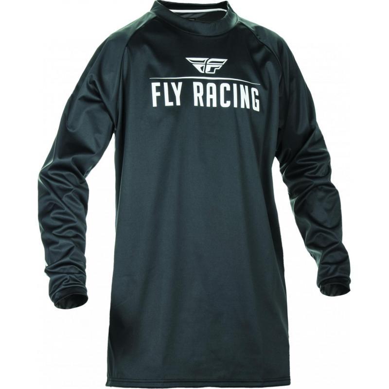 Maillot cross Fly Racing Windproof noir/gris