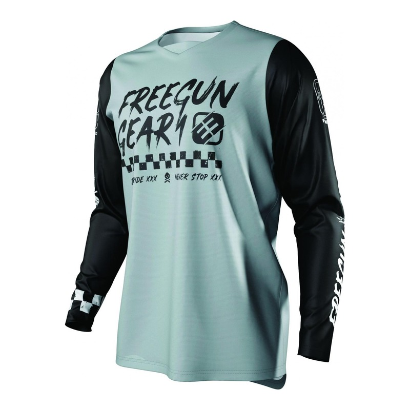Maillot cross Freegun Devo Speed gris