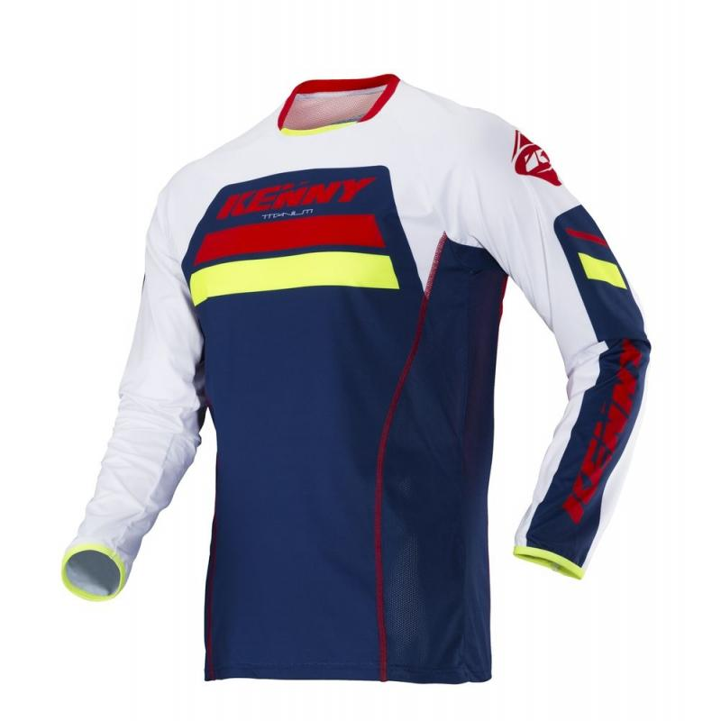 Maillot cross Kenny Titanium navy/rouge