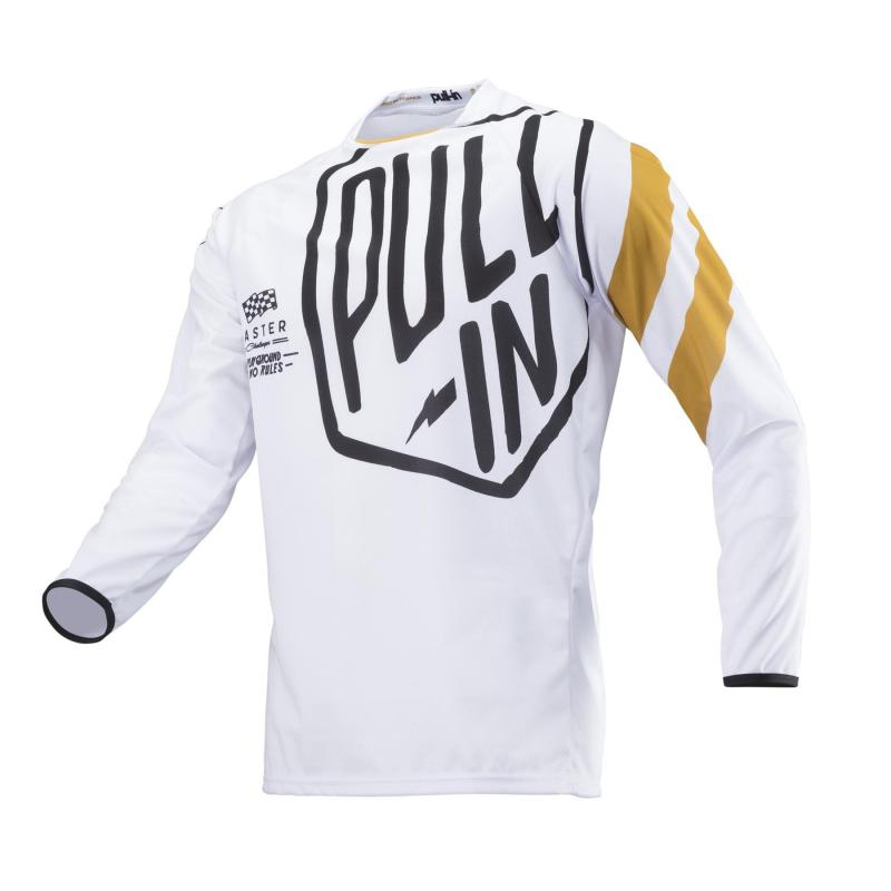 Maillot cross Pull-in Challenger Master blanc/or