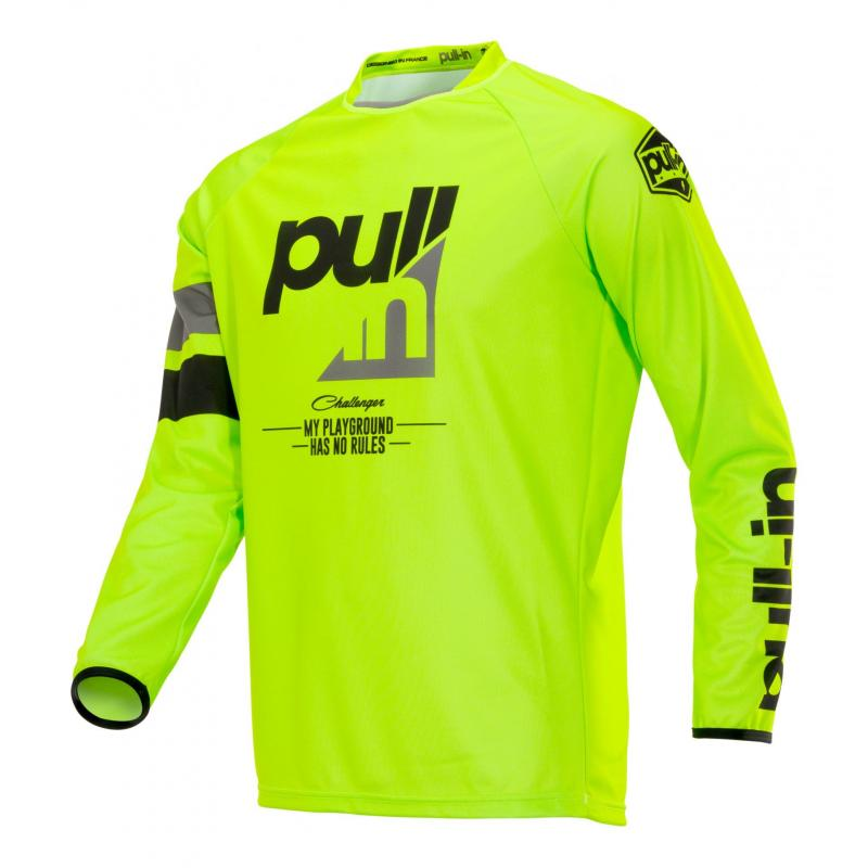 Maillot cross Pull-in Challenger Race charcoal lime