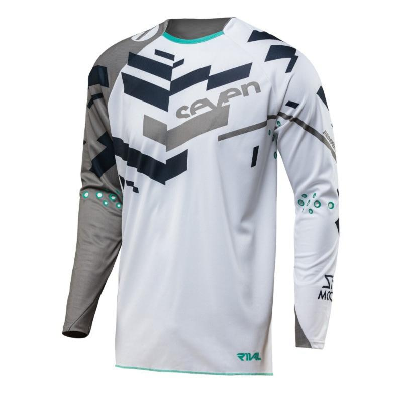 Maillot cross Seven Rival Volume gris
