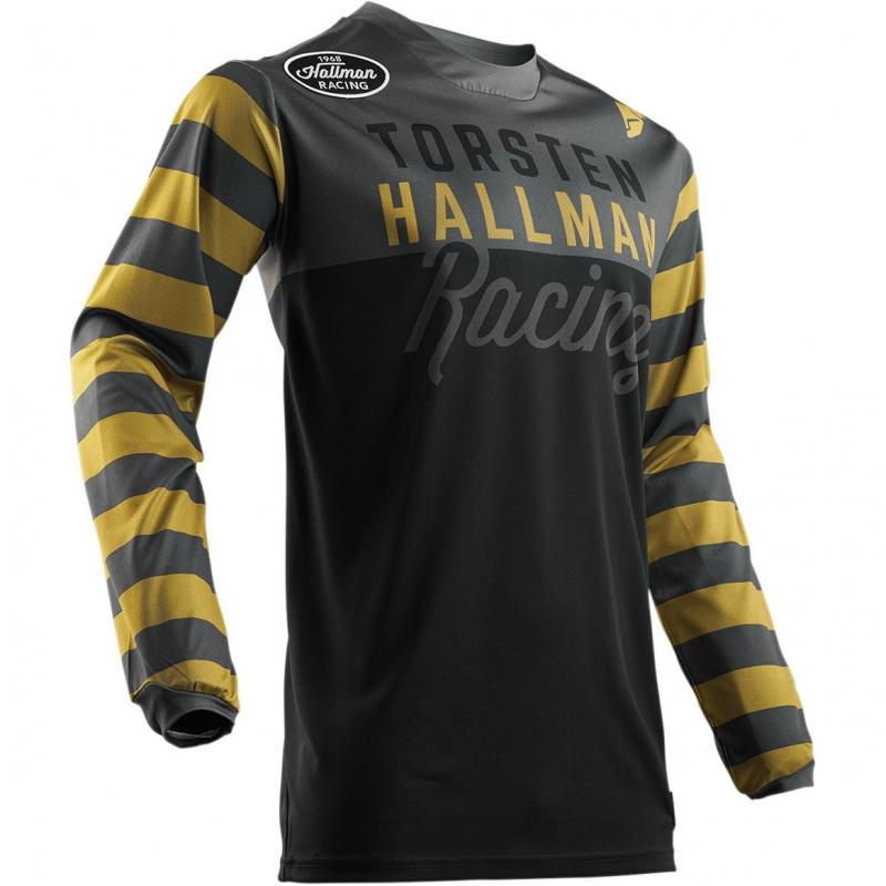 Maillot cross Thor Hallman Ringer noir