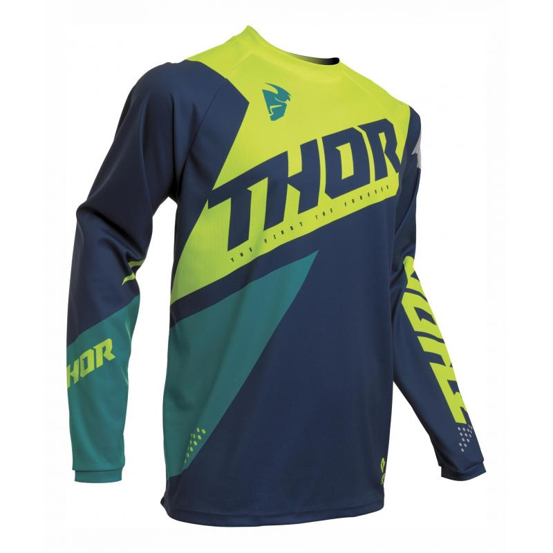 Maillot cross Thor Sector Blade navy/acid