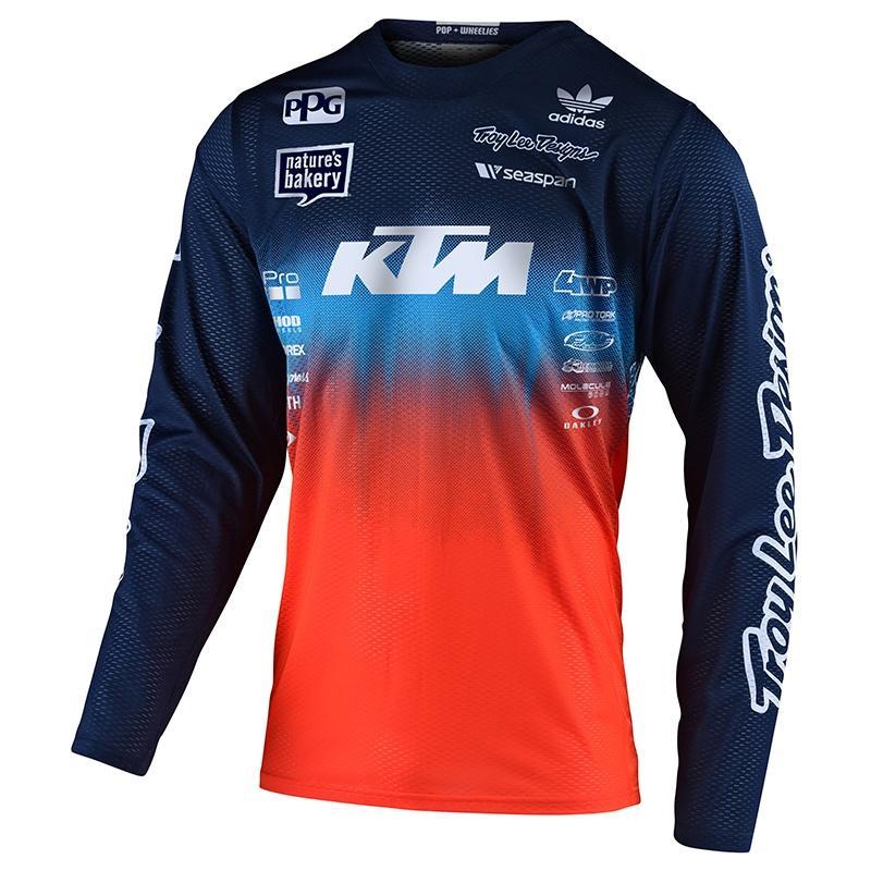 Maillot cross Troy Lee Designs GP Air Stain'd Team KTM bleu/orange