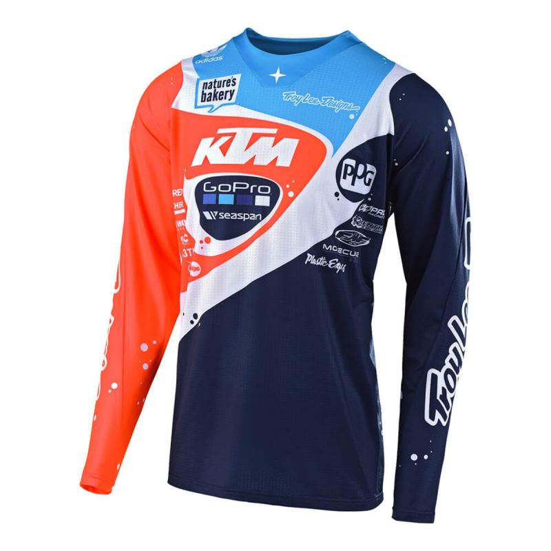 Maillot cross Troy Lee Designs Neptune SE Pro navy/orange