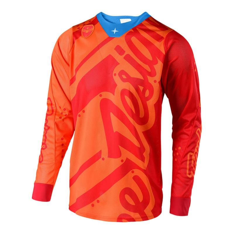 Maillot cross Troy Lee Designs SE Air Shadow honey/orange