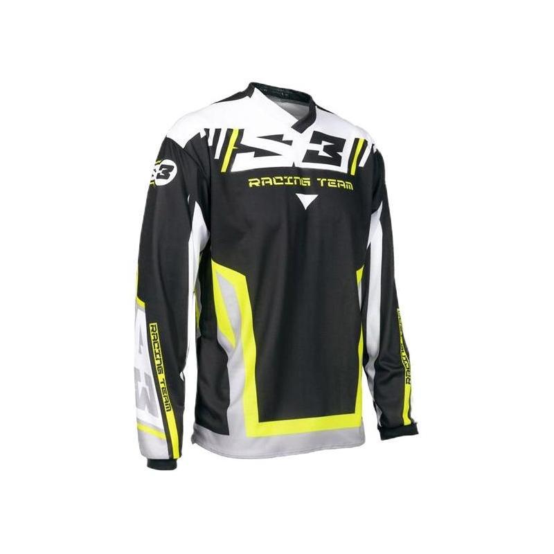 Maillot de trial S3 Racing Team jaune/noir