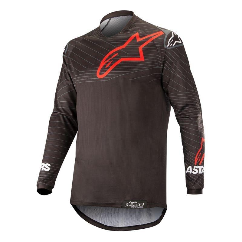 Maillot enduro Alpinestars Venture R noir/rouge