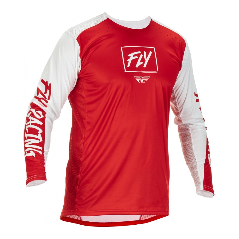 Maillot Fly Racing Lite rouge/blanc