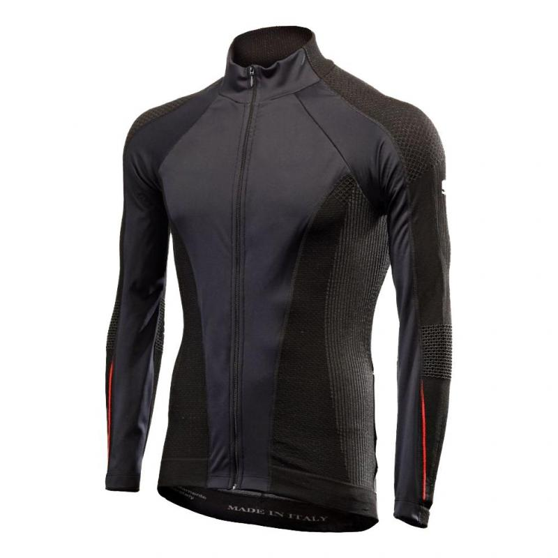 Maillot manches longues Sixs Wind Jersey WT noire/rouge