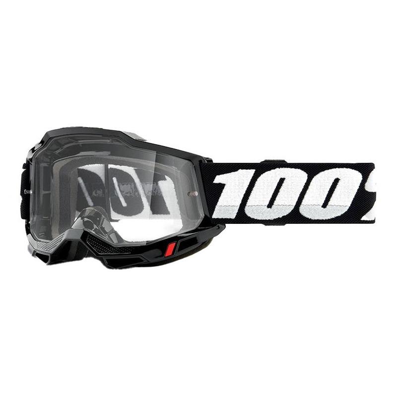 Masque cross 100% Accuri 2 Black écran incolore