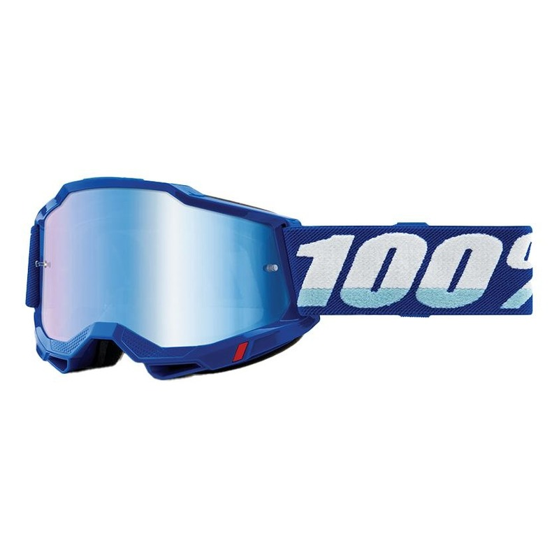 Masque cross 100% Accuri 2 Blue écran iridium bleu