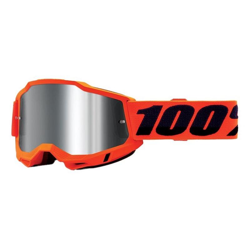 Masque cross 100% Accuri 2 Orange écran iridium argent