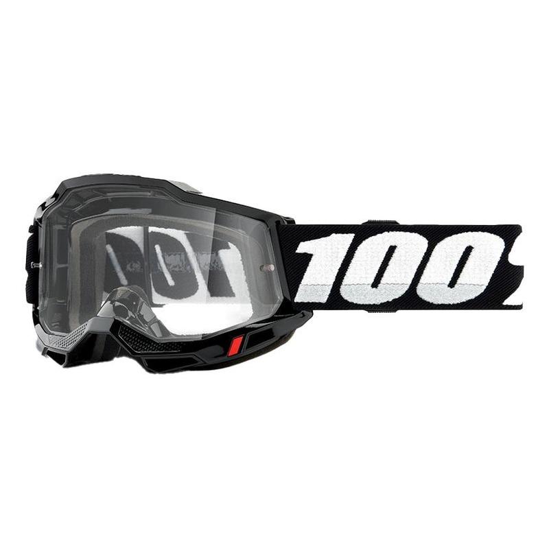Masque cross 100% Accuri 2 OTG noir écran incolore