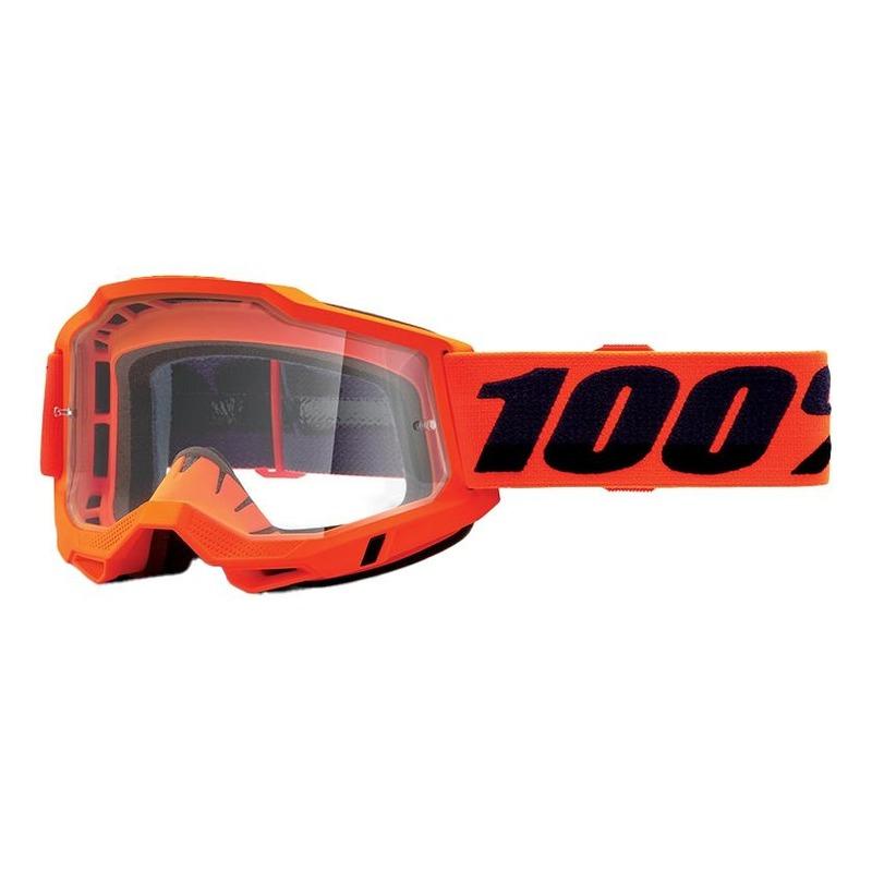 Masque cross 100% Accuri 2 OTG Orange écran incolore