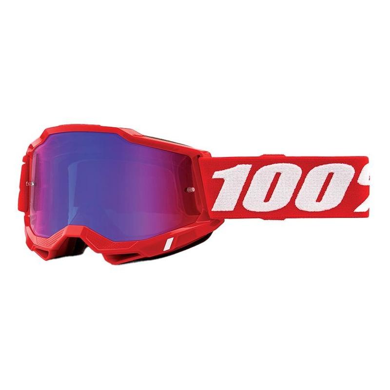 Masque cross 100% Accuri 2 Red écran iridium rouge/bleu