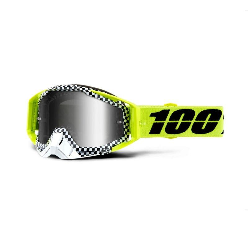 Masque cross 100% Racecraft Andre - écran miroir argent