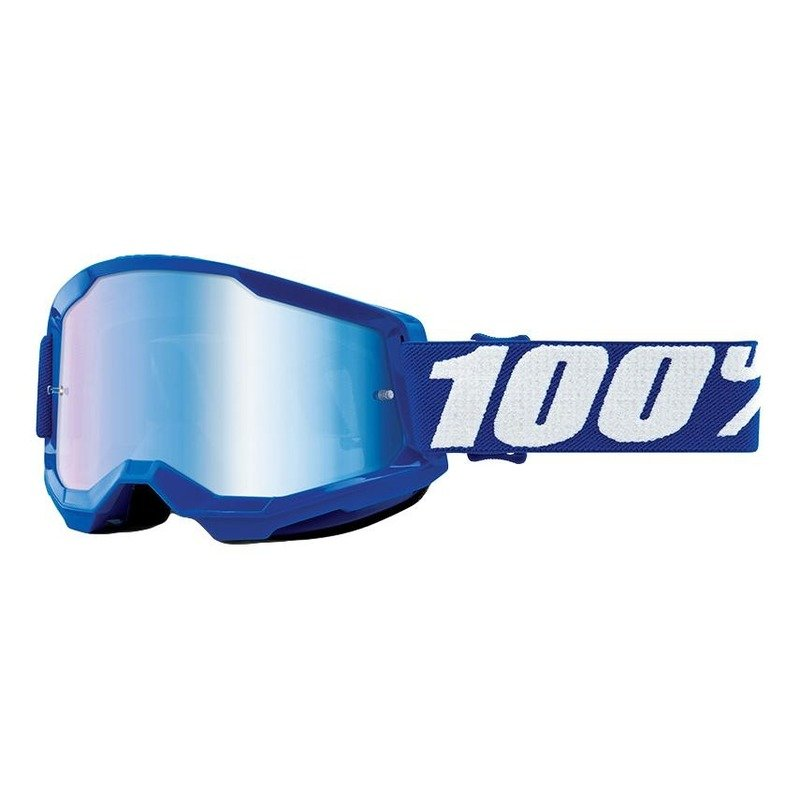 Masque cross 100% Strata 2 Blue écran iridium bleu