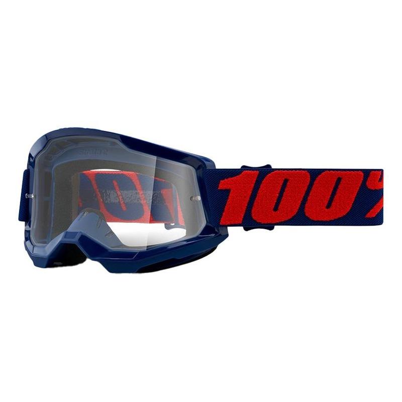 Masque cross 100% Strata 2 Masego écran incolore
