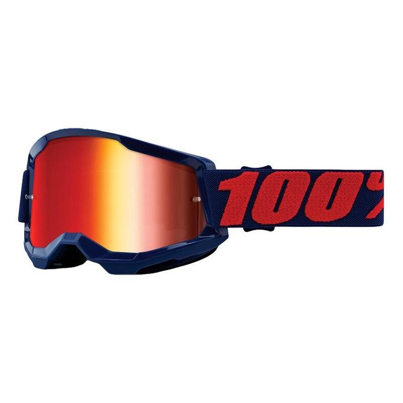 Masque cross 100% Strata 2 Masego écran iridium rouge