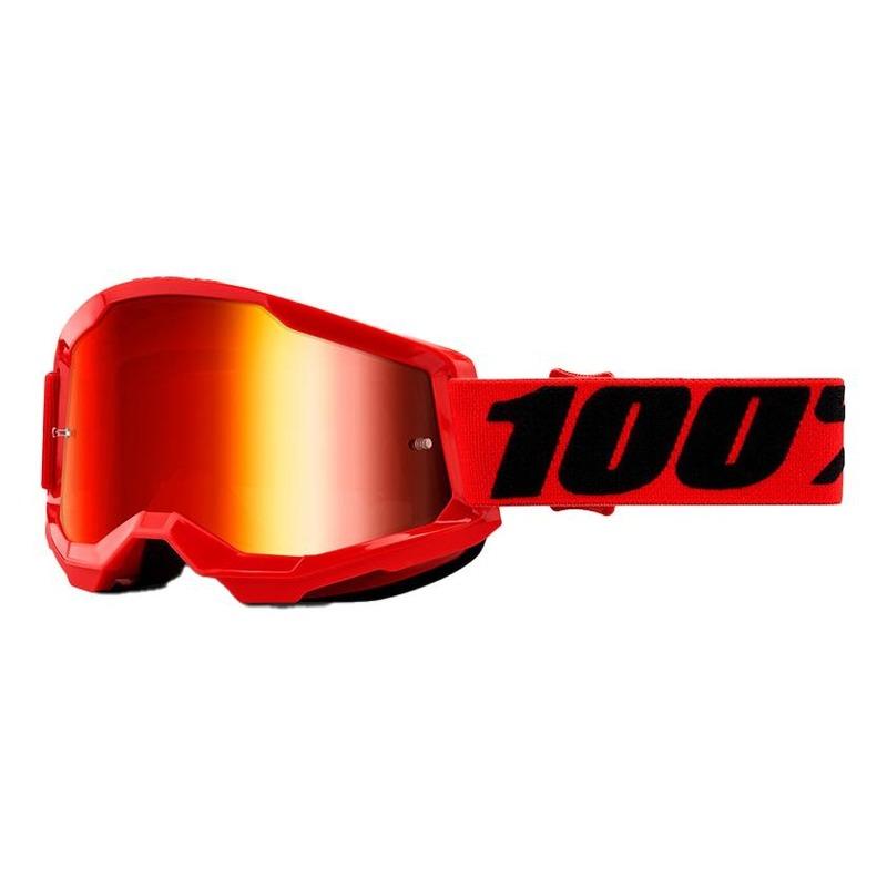 Masque cross 100% Strata 2 Red écran iridium rouge