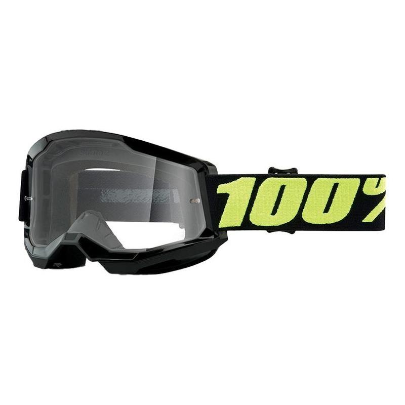 Masque cross 100% Strata 2 Upsol écran incolore