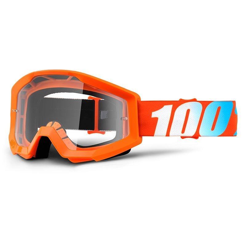 Masque cross 100% STRATA clear lens orange