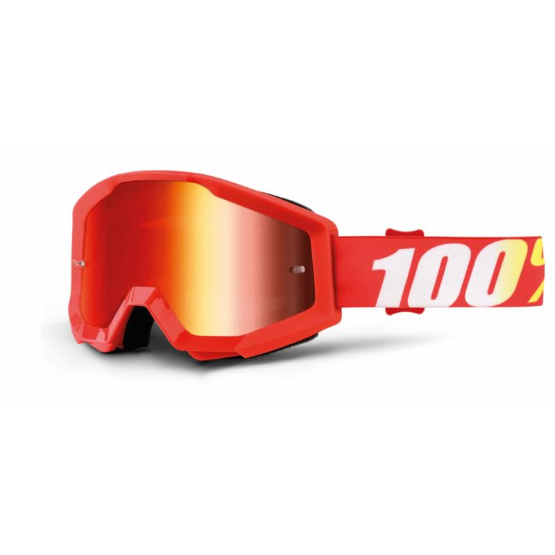 Masque cross 100% Strata Furnace Mirror red lens