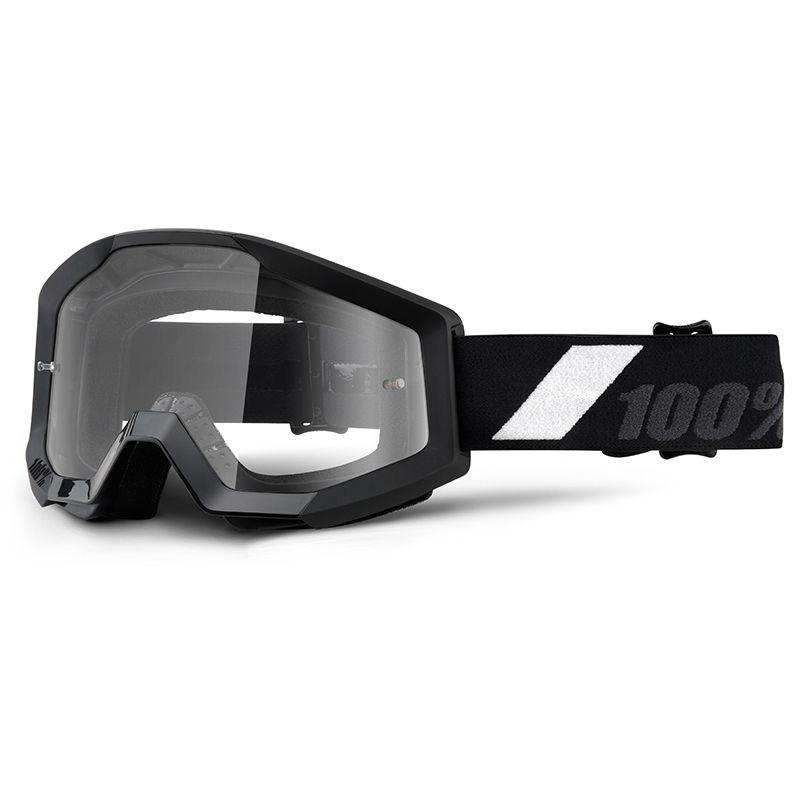 Masque cross 100% STRATA GOLIATH clear lens noir