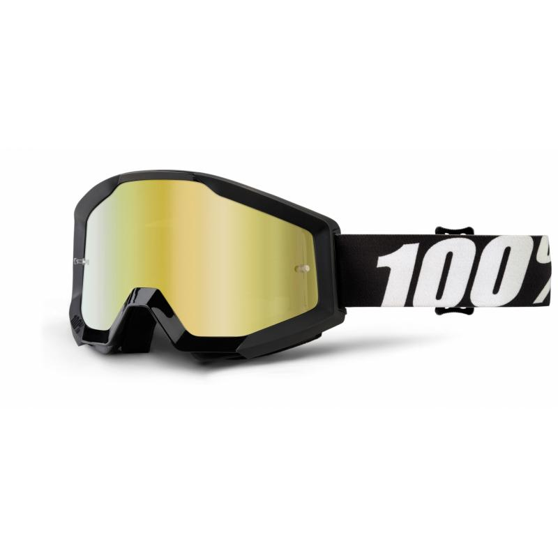 Masque cross 100% Strata Outlaw Mirror gold lens