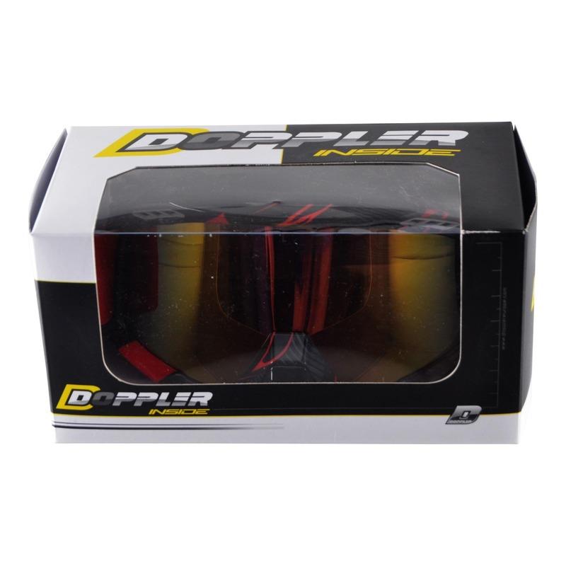 Masque cross Doppler noir et rouge