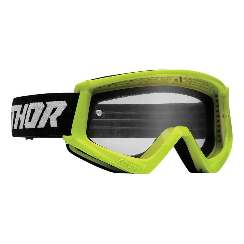 Masque cross enfant Thor Combat acid fluo/noir- écran transparent