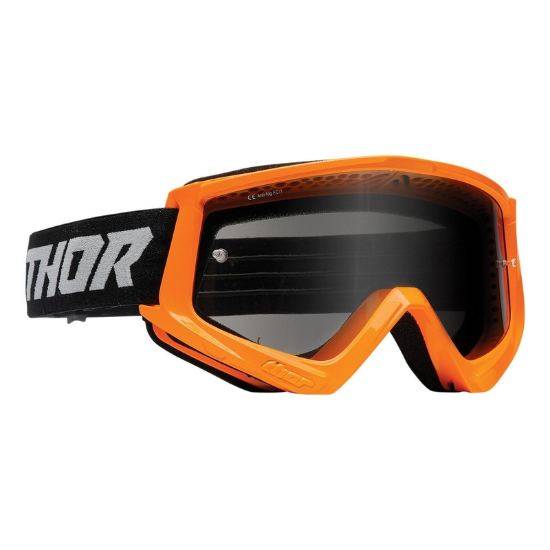 Masque cross enfant Thor Combat orange fluo- écran transparent