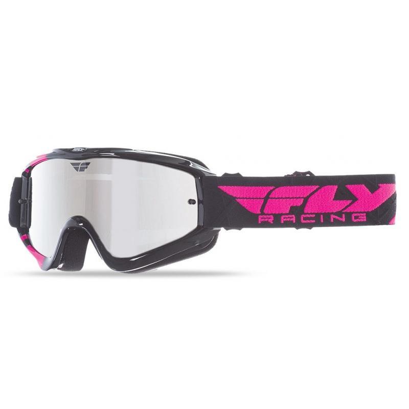 Masque cross Fly Racing Zone noir/rose écran miroir
