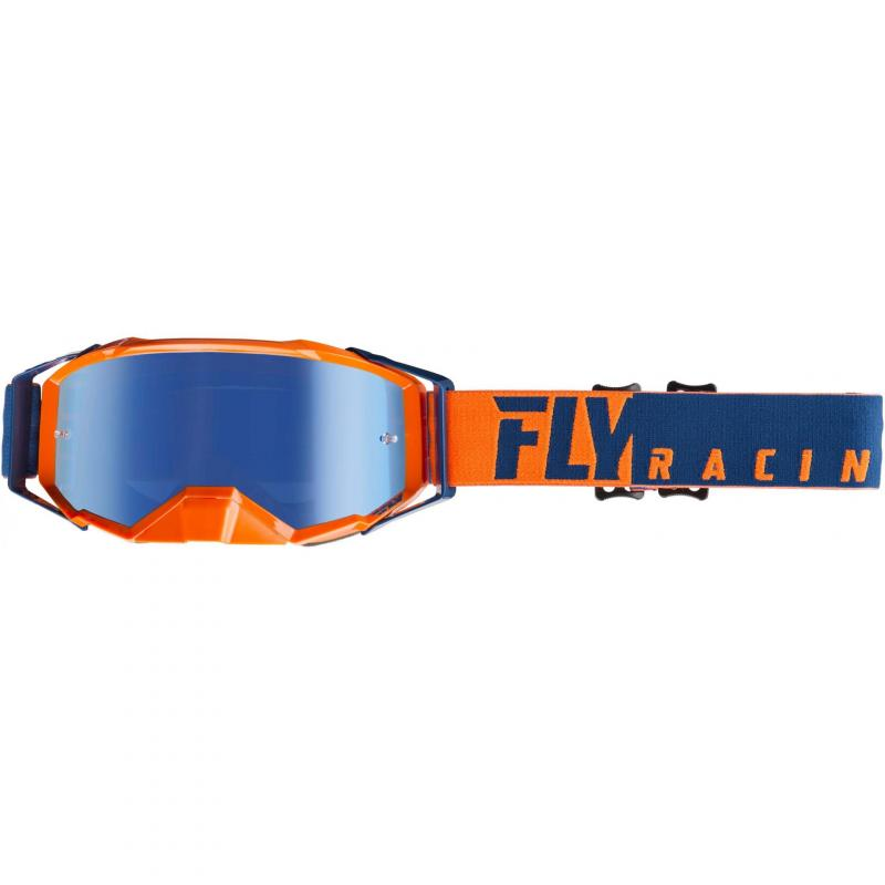 Masque cross Fly Racing Zone Pro 2019 bleu/orange