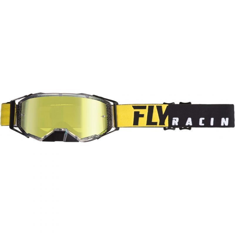 Masque cross Fly Racing Zone Pro 2019 noir/jaune fluo