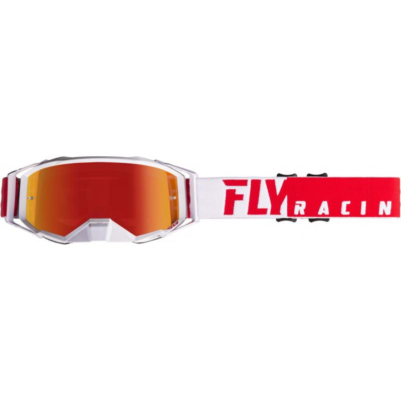 Masque cross Fly Racing Zone Pro 2019 rouge/blanc
