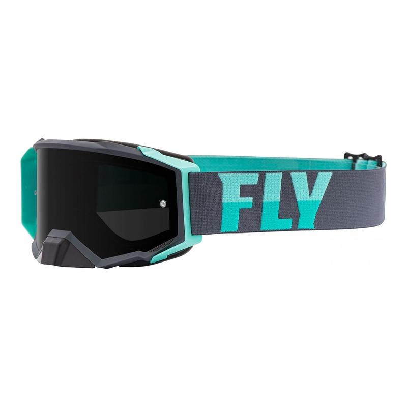 Masque cross Fly Racing Zone Pro gris/mint écran fumé foncé
