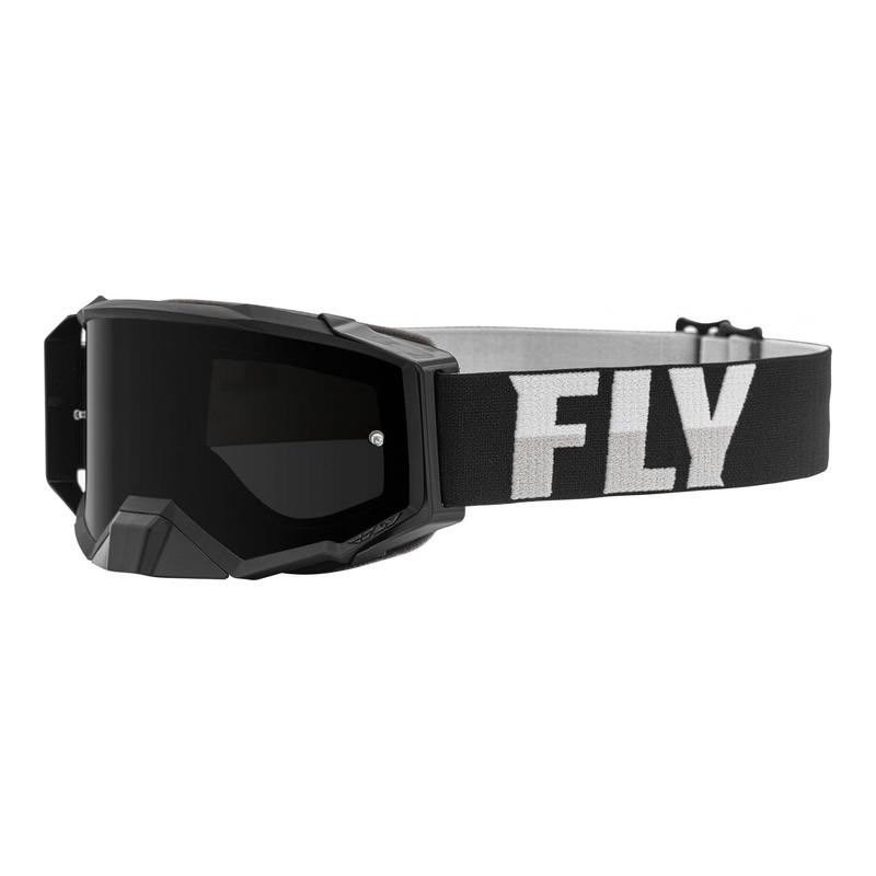 Masque cross Fly Racing Zone Pro noir/blanc écran fumé foncé