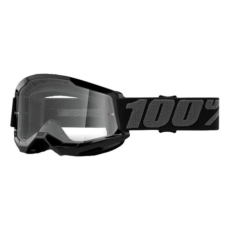 Masque cross Junior 100% Strata 2 Black écran incolore