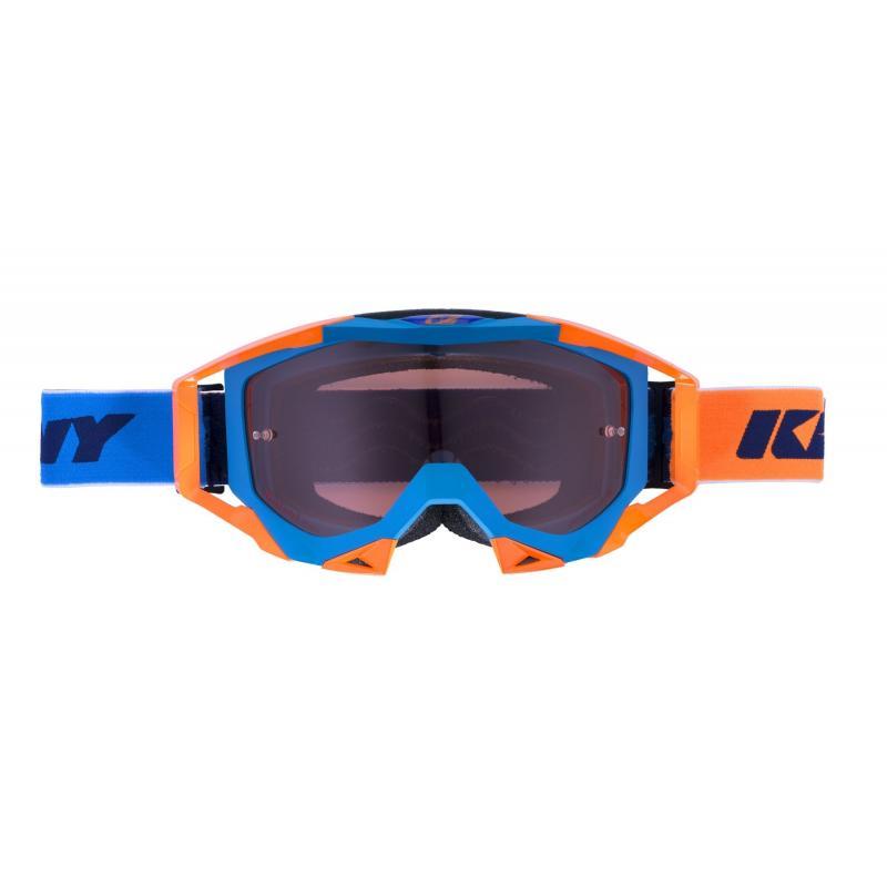 Masque cross Kenny Titanium cyan/orange