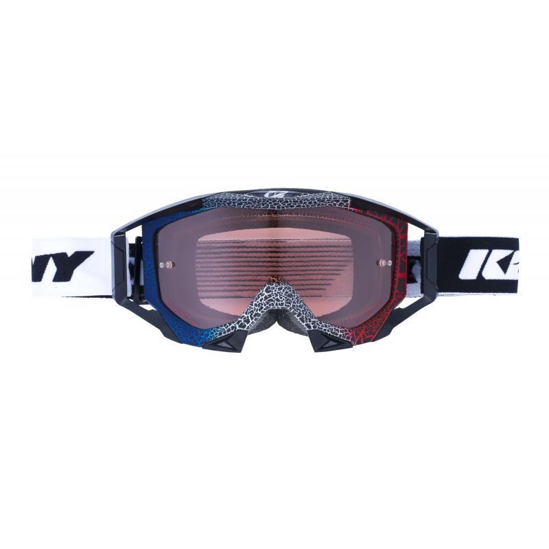 Masque cross Kenny Titanium Granit bleu/blanc/rouge