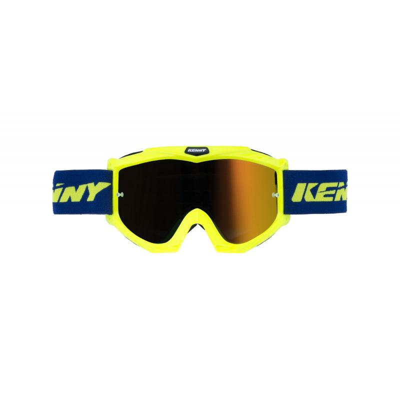 Masque cross Kenny Track + jaune fluo/bleu